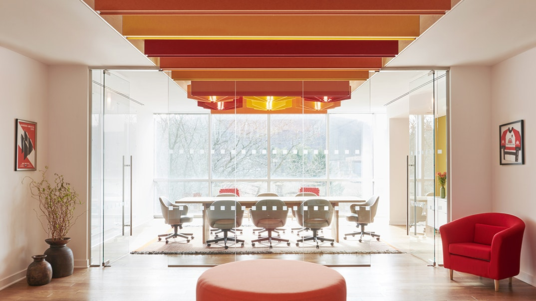 Lightart acoustic static budd lake trade center red orange yellow ruby citrine aries workplace