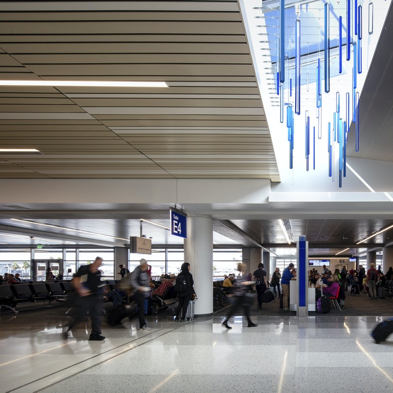 Lightart chroma mobile T3 North Concourse Desert Rain Phoenix Airport 3