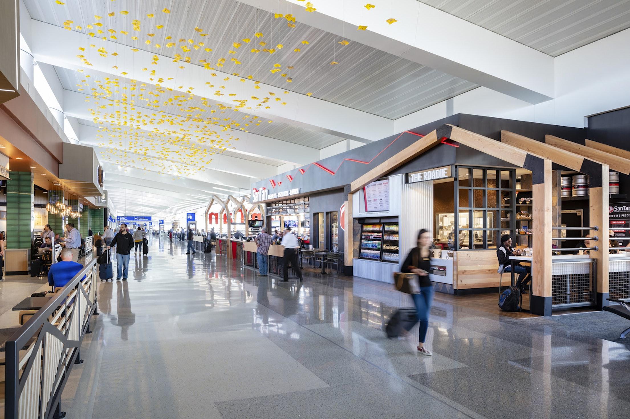Lightart palo verde blossom mobile South Concourse Phoenix Airport 1