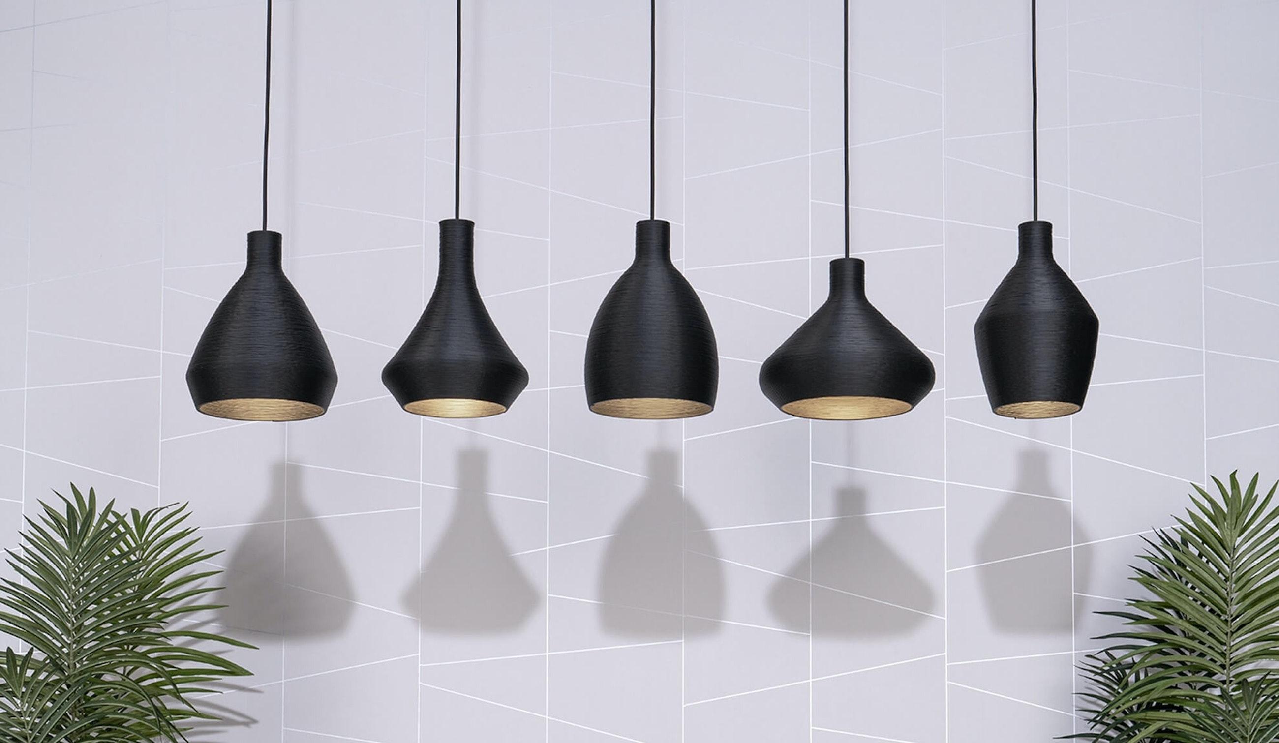 LIGHTART COIL PENDANT 5 BLACK BLACKWALL compressed