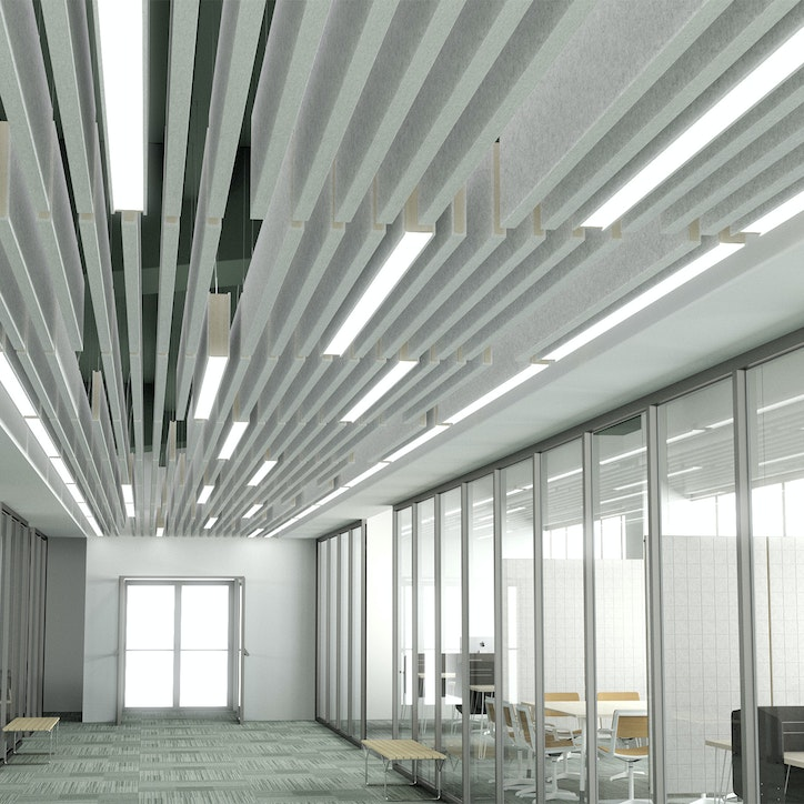 Lightart static beam baffle acoustic office space 1920