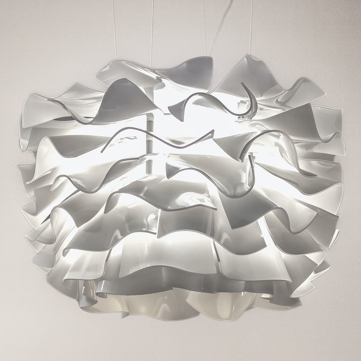 3form lightart collection pendant dahlia white 1920