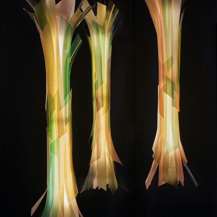 3form lightart custom chandelier ribbon bamboo 1920 1