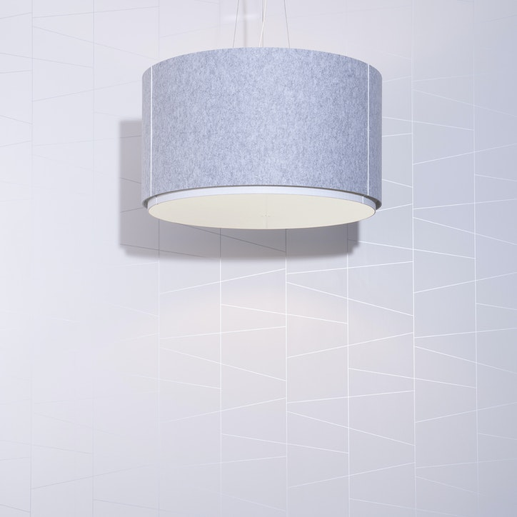 LIGHTART ACOUSTIC CYLINDER SHADE FELT 1web