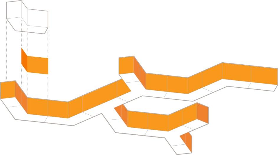 Lightart LA2 Connected Shapes Orange Diagram