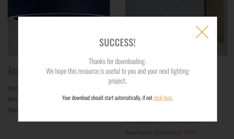 Download Success Modal